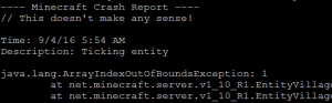Minecraft Crash Report This doesnt make any sense